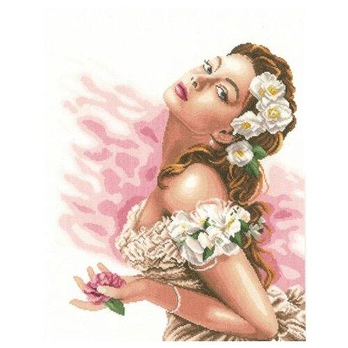 Купить Lanarte Набор для вышивания Дама с камелиями 37 x 48 см (0144530-PN), Наборы для вышивания