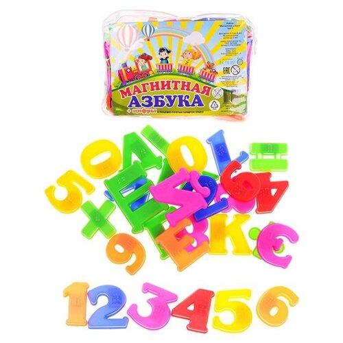 Купить Набор букв и цифр Эра Магнитная азбука Т5 С-318 разноцветный, Обучающие материалы и авторские методики