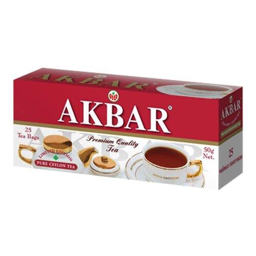 Чай черный Akbar 100 Years Limited Edition в пакетиках , 50 г , 25 шт. цена 2017