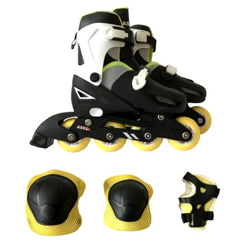 Раздвижные роликовые коньки ASE-Sport + защита, набор ASE-621 Combo р. 27 – 30