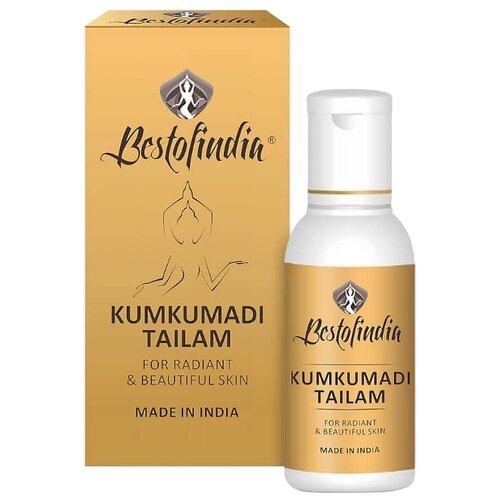 Масло для тела Bestofindia Kumkumadi Tailam сияние и красота кожи, массажное, бутылка, 50 мл kumkumadi cream