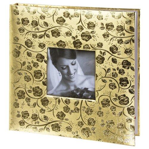 цена на Фотоальбом BRAUBERG Свадебный под фактурную кожу, 240 фото, светло-золотистый