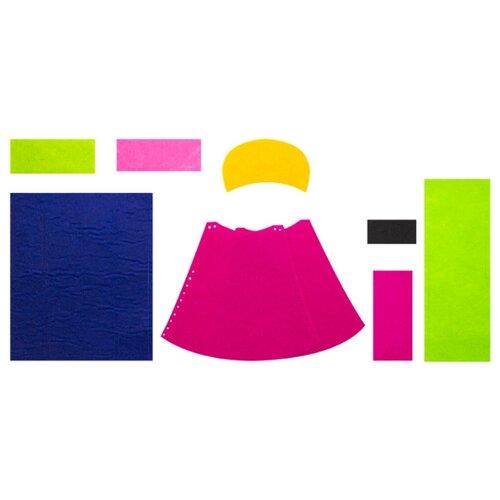 Апплика Набор для изготовления игрушки из фетра Кукла в красном платье (C3309-02)
