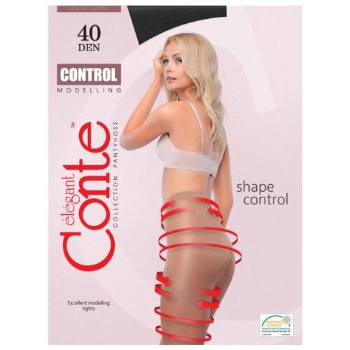 Фото - Колготки Conte Elegant Control 40 den, размер 3, nero (черный) колготки conte elegant solo 40 den размер 3 nero черный