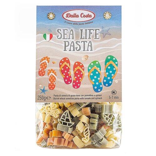 Dalla Costa Макароны Sea Life с томатами и шпинатом, 250 г