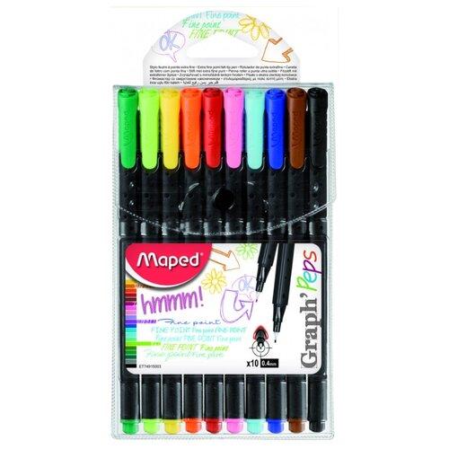 Купить Maped Набор капиллярных ручек Graph Peps, 0, 4 мм (749150), Ручки