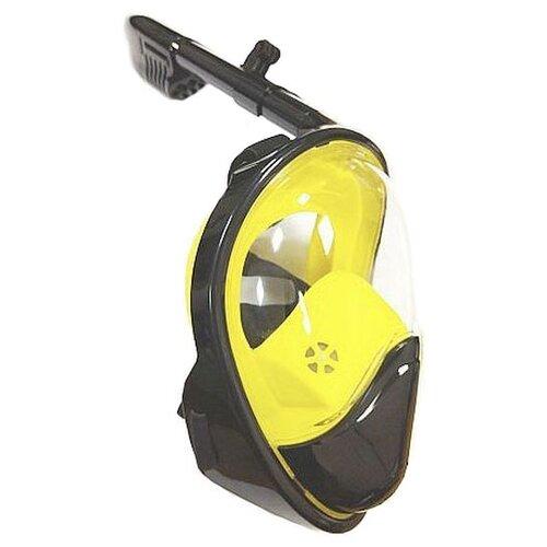 Маска для плавания LINNBERG Marine с выпуклым стеклом черно-желтыйМаски и трубки<br>