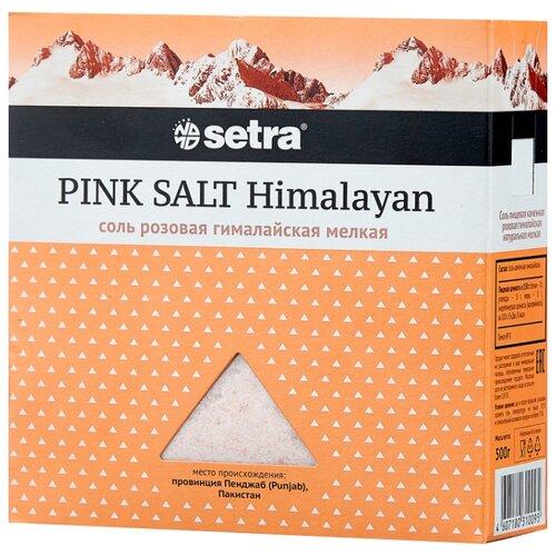 Setra Соль Гималайская розовая мелкая, 500 г