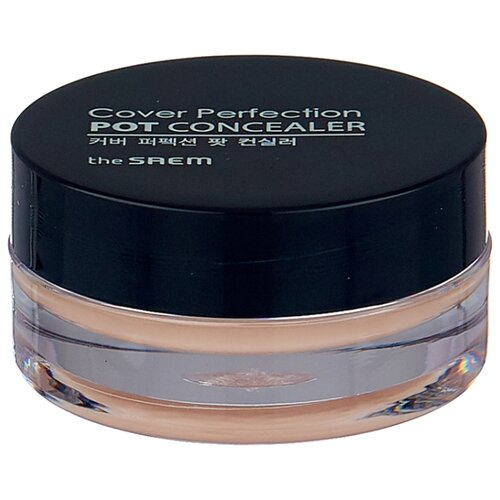 The Saem Консилер-корректор Cover Perfection Pot Concealer, оттенок 01 Clear Beige консилер the saem cover perfection pot concealer 01 цвет 01 clear beige variant hex name d2ab8a