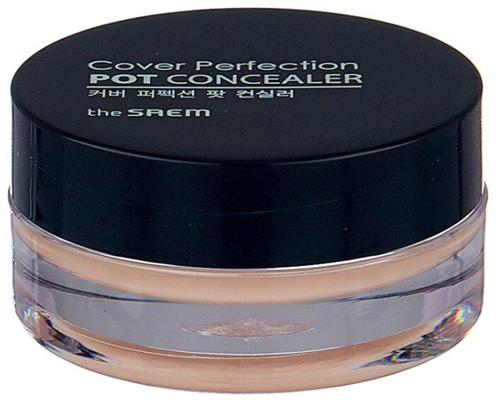 Купить The Saem Консилер-корректор Cover Perfection Pot Concealer, оттенок 01 Clear Beige по низкой цене с доставкой из Яндекс.Маркета