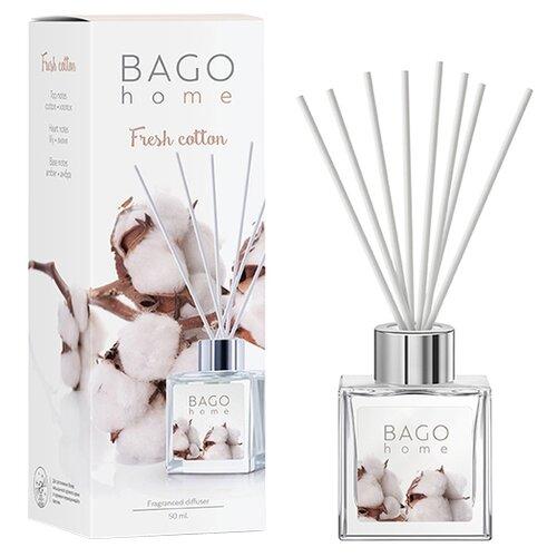BAGO home диффузор Свежий хлопок, 50 мл диффузор ароматический bago home свежий хлопок 100 мл