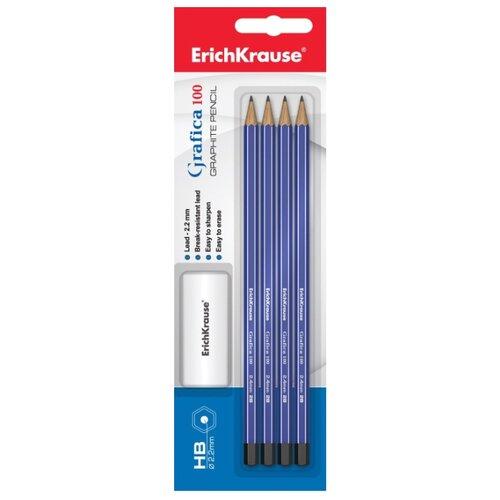 ErichKrause Набор чернографитных шестигранных карандашей Grafica 100 4 шт (45484)