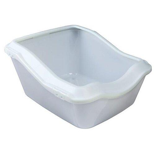 Фото - Туалет-лоток для кошек TRIXIE 40371/40373 54х45х29 см белый 1 шт. туалет trixie с бортиком для кошек 45х29х54см 40371