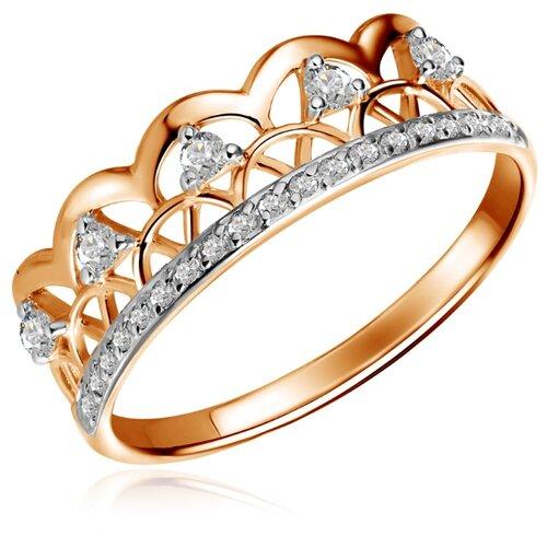 Бронницкий Ювелир Кольцо из красного золота Д0268-017579, размер 17 бронницкий ювелир кольцо из красного золота д0268 017060 размер 17