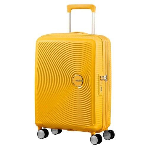 Чемодан American Tourister Soundbox 41 л, golden yellow