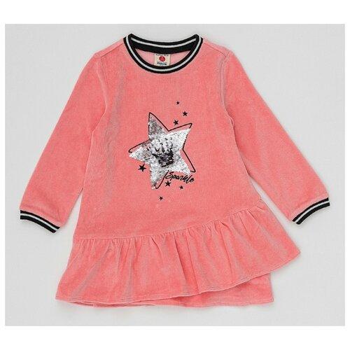 Платье Button Blue размер 104, розовый