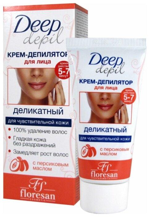 Floresan Деликатный крем депилятор для лица Deep