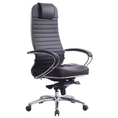 Компьютерное кресло Метта SAMURAI KL-1 для руководителя, обивка: искусственная кожа, цвет: 721-Черный компьютерное кресло метта bp 2 pl офисное обивка натуральная кожа цвет 721 черный