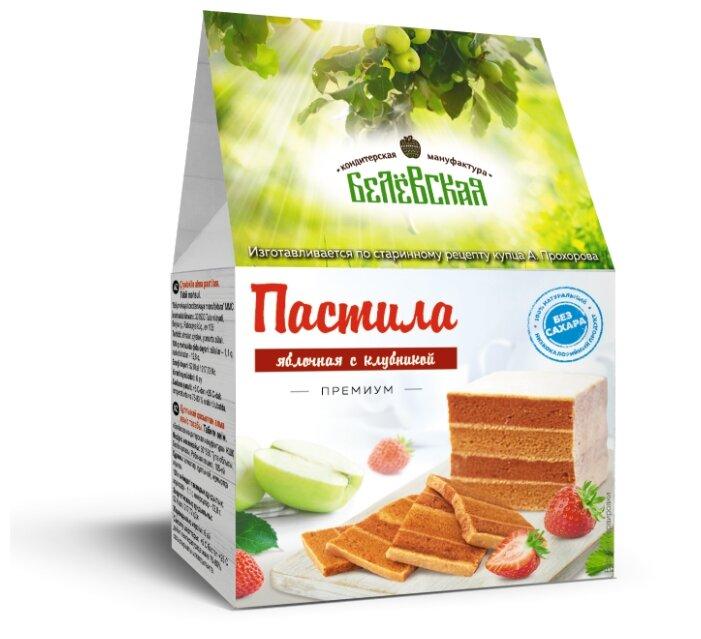 Пастила Белёвская Кондитерская Мануфактура яблочная с клубникой без сахара 75 г