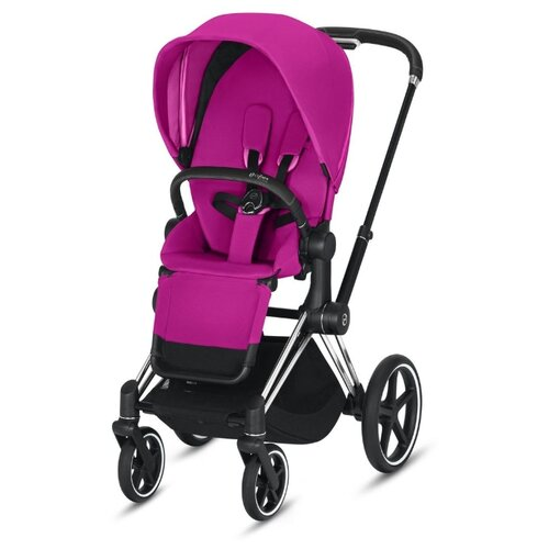 Прогулочная коляска Cybex Priam III fancy pink/chrome/black, цвет шасси: серебристый коляска трость cybex topaz princess pink 2016 516203015