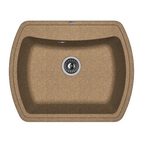 Врезная кухонная мойка 63 см FLORENTINA Нире-630 FG 20.215.D0630.105 коричневый мойка florentina нире 630 шампань