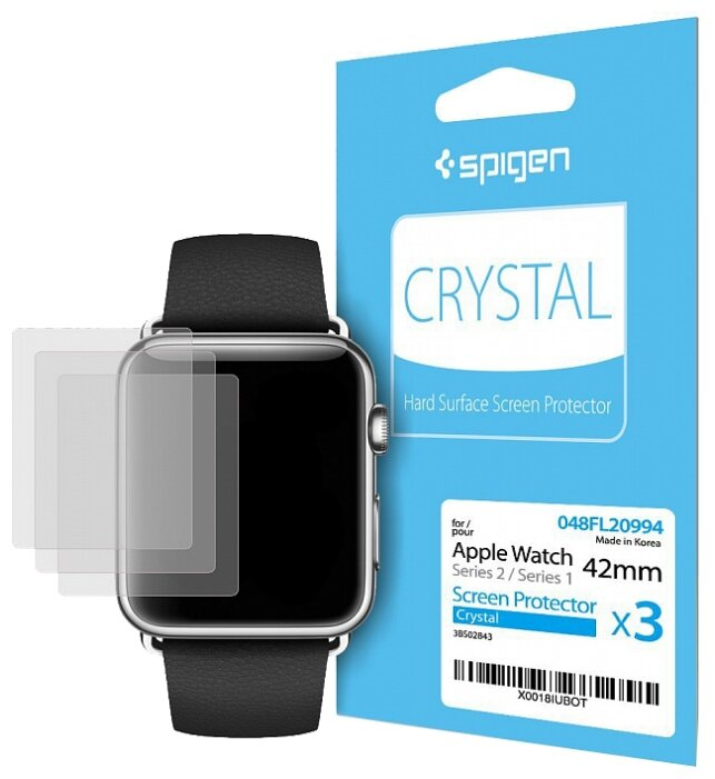 Защитная пленка Spigen Crystal для Apple Watch Series 3/2/1 42mm