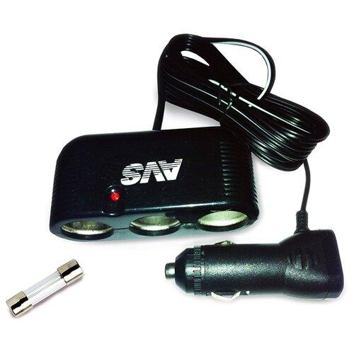Разветвитель прикуривателя AVS CS301 черный