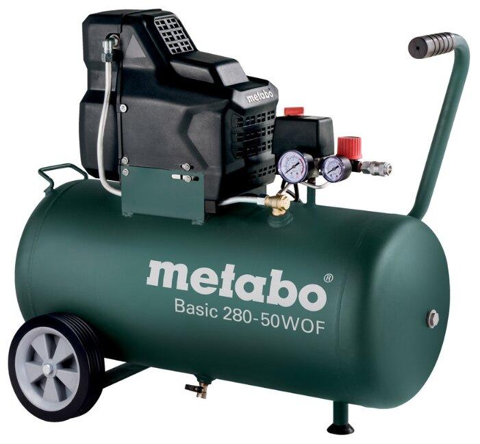 Купить Компрессор безмасляный Metabo BASIC 280-50 W OF, 50 л, 1.7 кВт по низкой цене с доставкой из Яндекс.Маркета (бывший Беру)