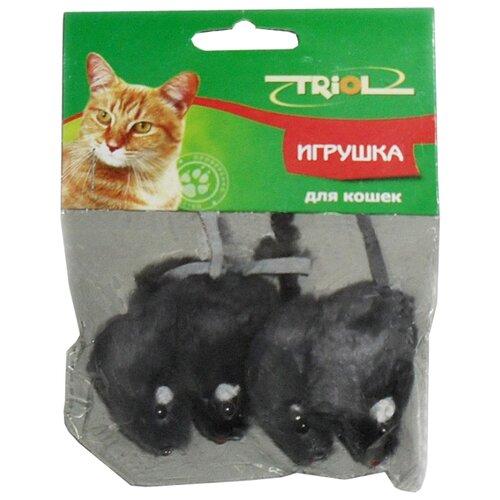 Мышь для кошек Triol серая 4 шт (M002NG/Ч-00600/22161027) серый