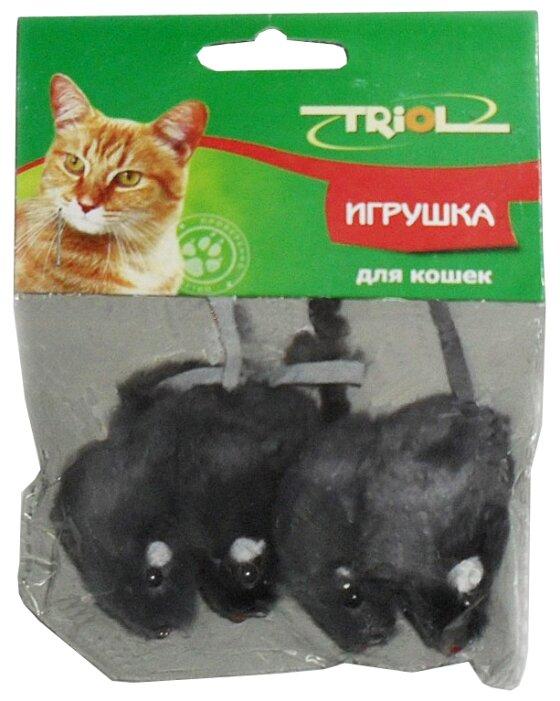 Мышь для кошек Triol серая 4 шт (M002NG/Ч-00600/22161027)