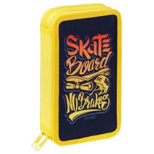 ArtSpace Пенал Skateboard (ПТ2_29121) черный/желтый, Пеналы  - купить со скидкой