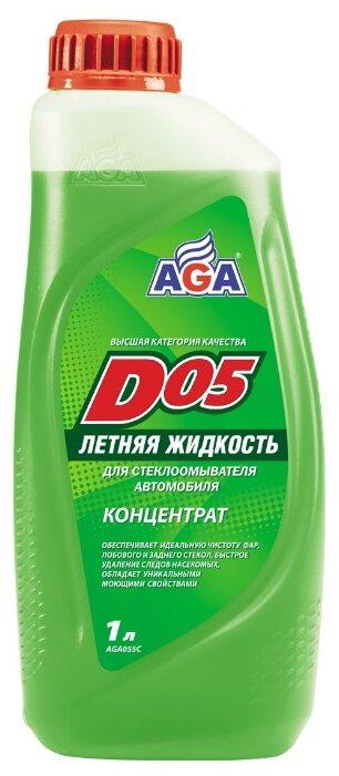 Жидкость для стеклоомывателя AGA D05, 1 л
