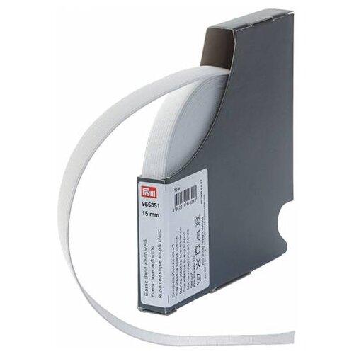 Prym Эластичная лента мягкая 955351, белый 1.5 см х 10 м prym эластичная лента мягкая 955351 белый 1 5 см х 10 м