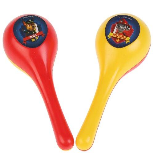 Купить Играем вместе маракас Щенячий патруль B409790-R5 желтый/красный, Детские музыкальные инструменты