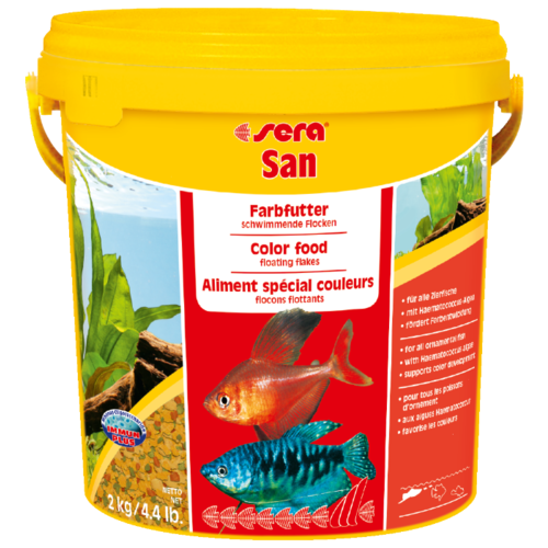 Сухой корм для рыб Sera Sera San для улучшения окраски 10000 мл 2000 г