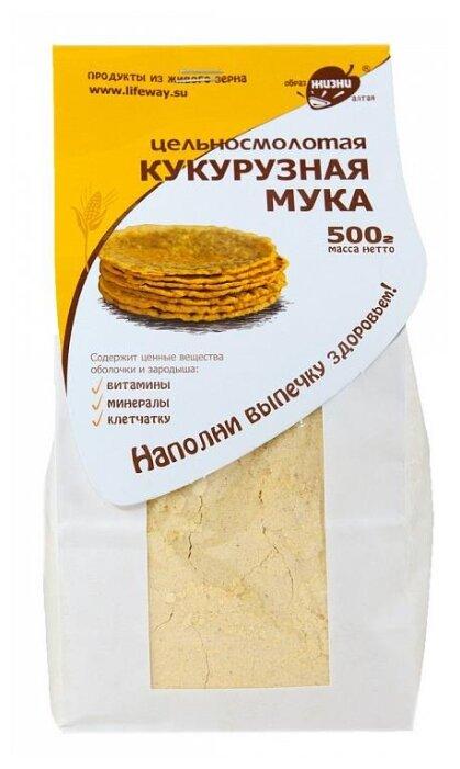Мука Образ Жизни Алтая кукурузная цельносмолотая, 0.5 кг