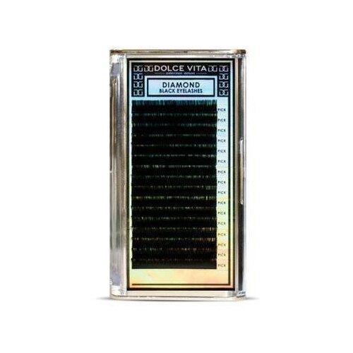 Dolce Vita Ресницы в ленте Diamond Black Deluxe С-изгиб 0.15 мм черный лоферы dolce vita dolce vita mp002xw0ere9
