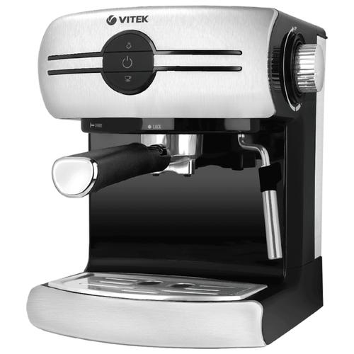 Фото - Кофеварка рожковая VITEK VT-1507, серебристый/черный кофеварка vitek vt 1503