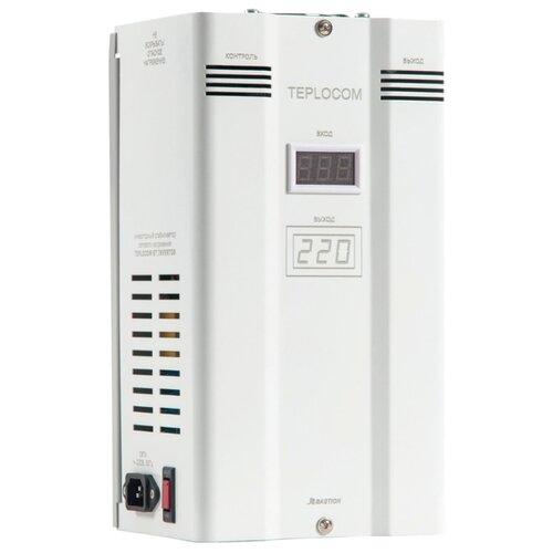 Стабилизатор напряжения однофазный БАСТИОН TEPLOCOM ST-1000 INVERTOR (0.8 кВт) белый