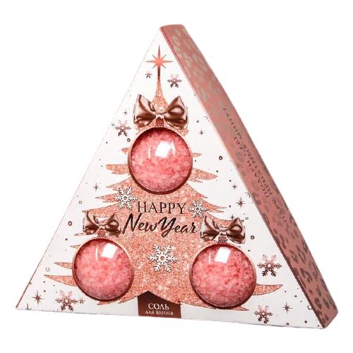 Купить Чистое счастье Соль для ванн Happy New Year , 3 флакона 4921120, 570 г
