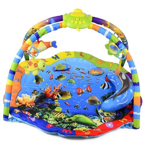 Купить Развивающий коврик La-Di-Da Подводный мир со светом и музыкой (PM-T-1-80701), Развивающие коврики