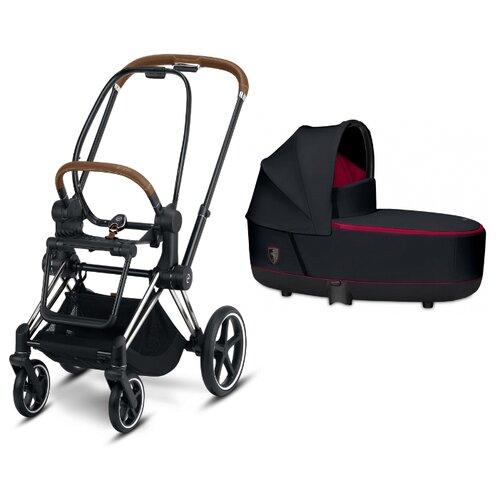 Универсальная коляска Cybex Priam III Ferrari (2 в 1) victory black/chrome/brown, цвет шасси: серебристый