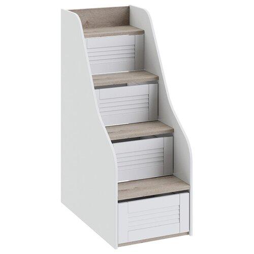 Лестница ТриЯ для кровати Ривьера ТД-241.11.12 Дуб Бонифацио/Белый