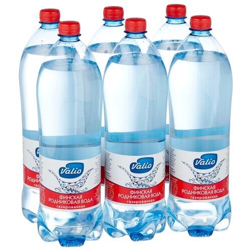 Вода родниковая Valio газированная, ПЭТ, 6 шт. по 1.5 л 4m родниковая вода 00 03281
