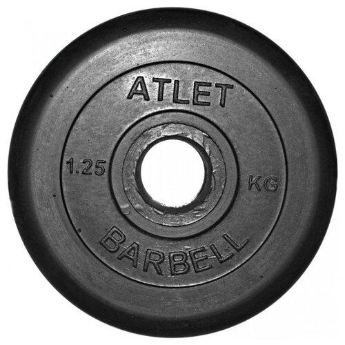 Фото - Диск MB Barbell MB-AtletB31 1.25 кг черный гиря уральская 30 0 кг mb barbell titan