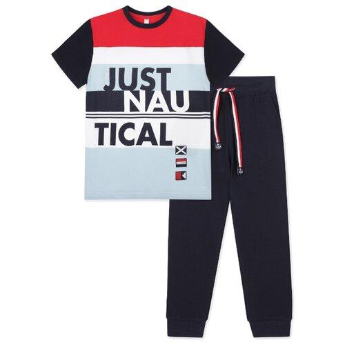 Купить Комплект одежды playToday размер 122, темно-синий, Комплекты и форма