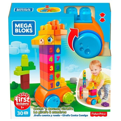 Конструктор Mega Bloks First Builders GFG19 Жираф 123