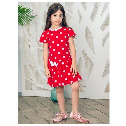 Платье Дашенька размер 74, горох/красный