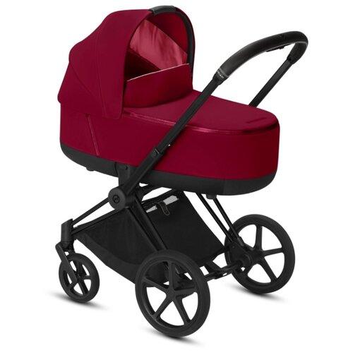 Купить Коляска для новорожденных Cybex Priam III (люлька) true red/matte black, цвет шасси: черный, Коляски