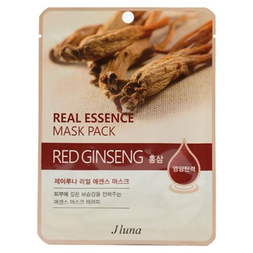 Фото - Маска тканевая Juno J luna Red Ginseng с красным женьшенем для лица, 25 мл маска тканевая juno j luna q10 для лица 3 шт 25 мл